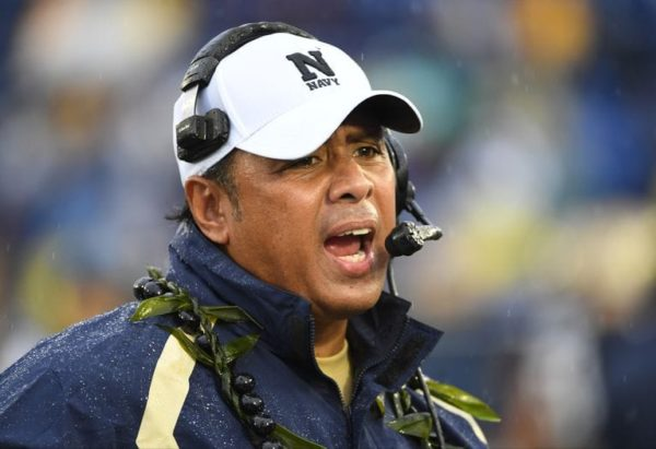 Navy Head Coach Ken Niumatalolo