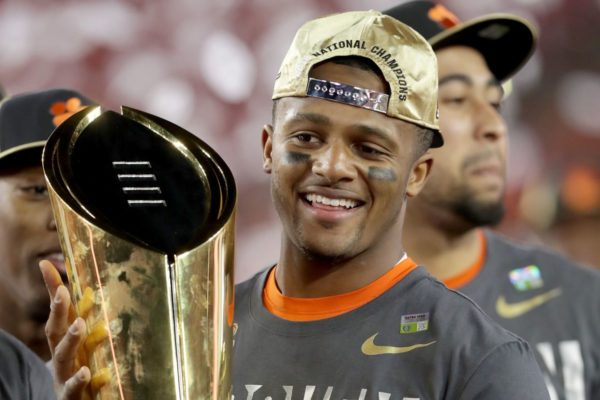 watson with championship trophy