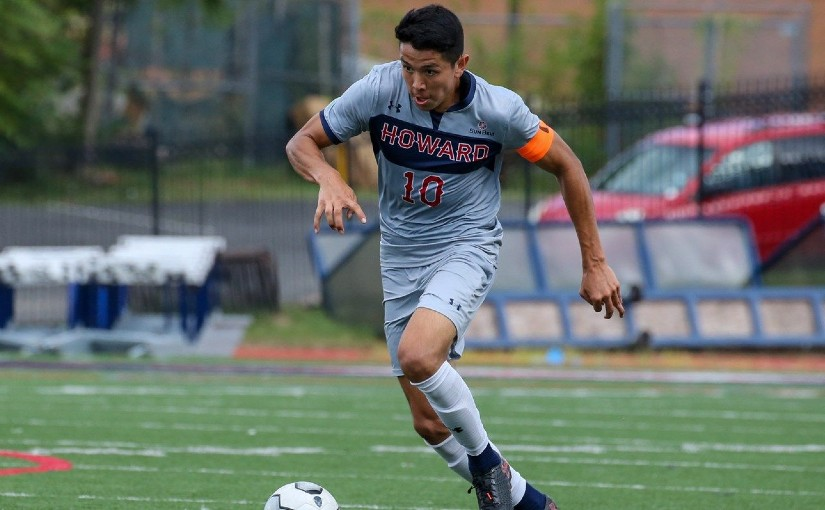 Howard University midfielder Andres Gomez x