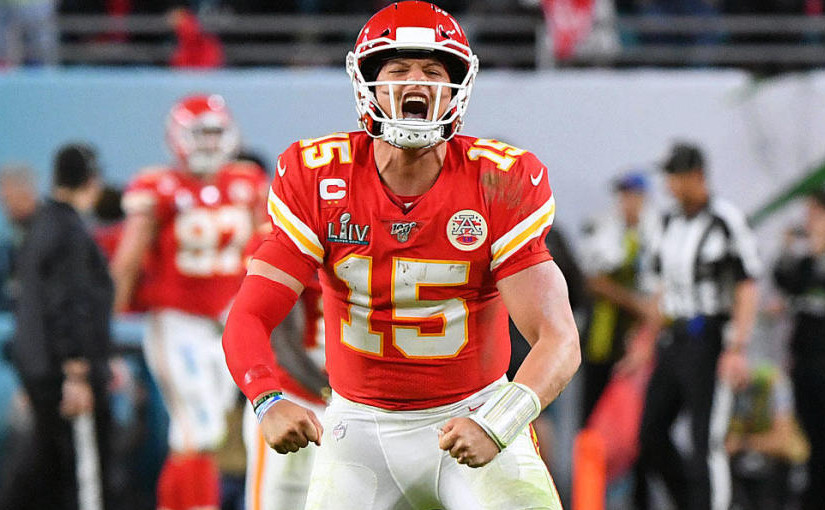 patrick mahomes chiefs super bowl win celebration x